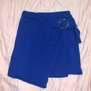 Fashion Nova Blue Skirt